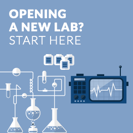 Open a new lab ad banner